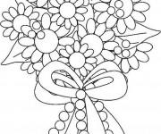 Coloriage Bouquet Fleur arrangés