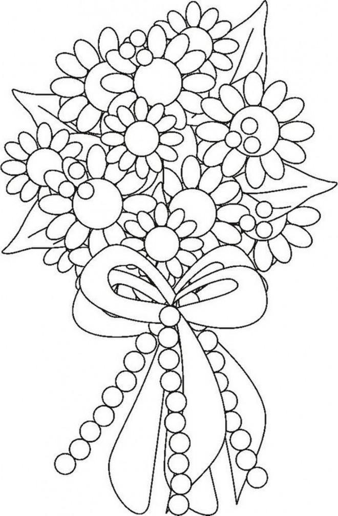 Coloriage et dessins gratuits Bouquet Fleur arrangés à imprimer