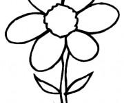 Coloriage fleur six p tales dessin gratuit imprimer - Coloriage fleur 8 petales ...