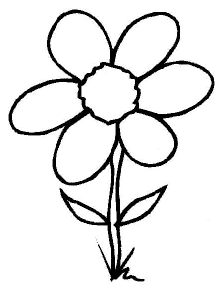 Coloriage et dessins gratuits Fleur à six pétales à imprimer