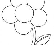 Coloriage Fleur adulte maternelle