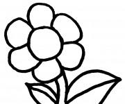 Coloriage Fleur agréable