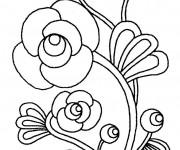 Coloriage Fleur Artistique en couleur