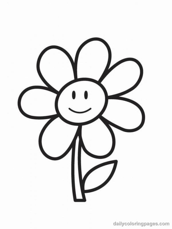Coloriage et dessins gratuits Fleur avec visage à imprimer