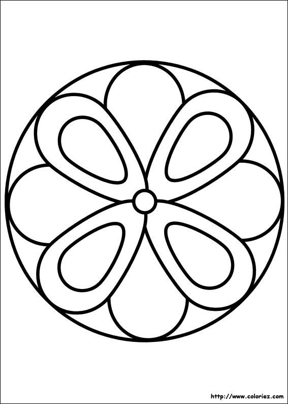 Coloriage et dessins gratuits Fleur Cercle à imprimer