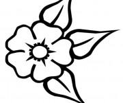 Coloriage Fleur de Tiare
