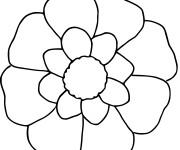 Coloriage Fleur en blanc et jaune