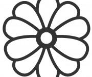 Coloriage et dessins gratuit Fleur en couleur à imprimer