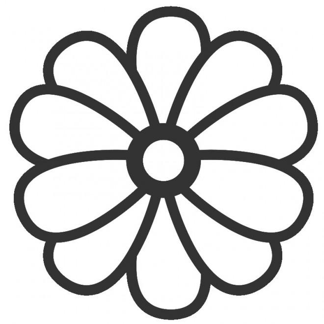 Coloriage Fleur En Couleur Dessin Gratuit à Imprimer