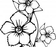 Coloriage et dessins gratuit Fleur en noir à imprimer