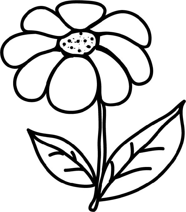 Coloriage fleur en noir et blanc dessin gratuit imprimer - Coloriage fleur 3 ans ...