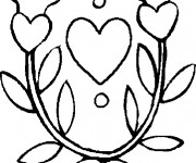 Coloriage Fleur et Coeur