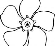 Coloriage et dessins gratuit Fleur facile à imprimer