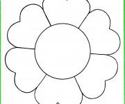 Coloriage et dessins gratuit Fleur image facile à imprimer