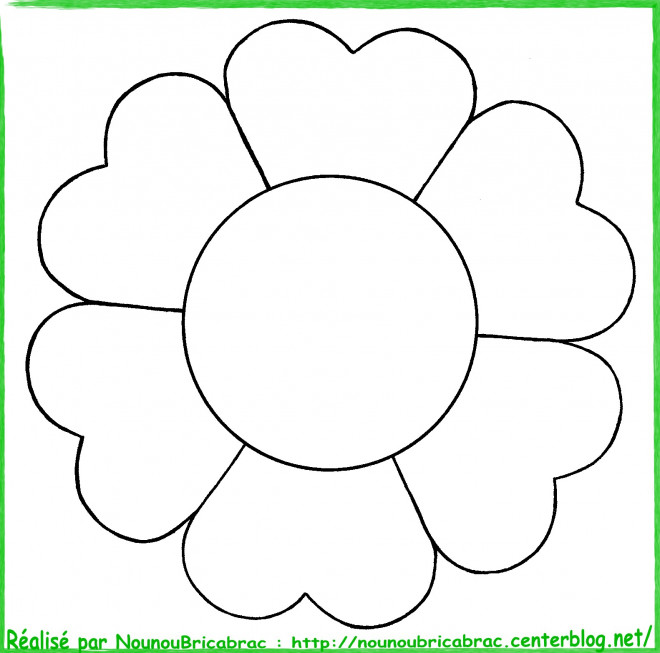 Coloriage fleur image facile dessin gratuit imprimer - Dessin fleur facile ...