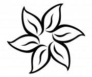 Coloriage et dessins gratuit Fleur mandala facile à imprimer