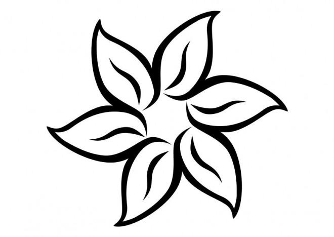 Coloriage fleur mandala facile dessin gratuit imprimer - Fleur simple dessin ...
