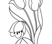 Coloriage et dessins gratuit Fleur maternelle à imprimer