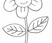 Coloriage Fleur mignonne