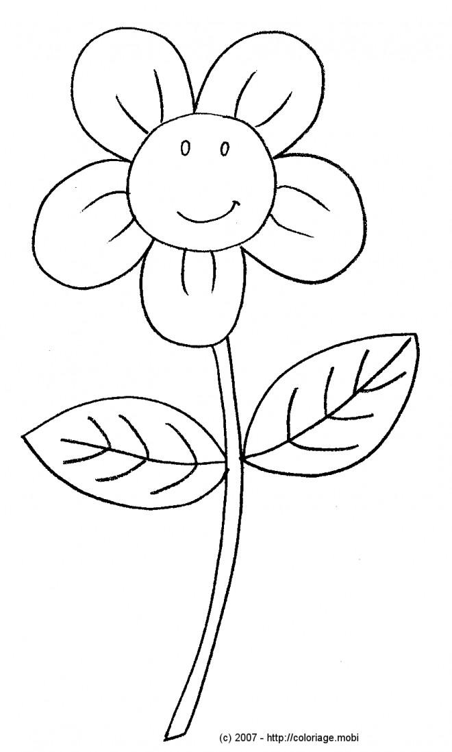 Coloriage et dessins gratuits Fleur mignonne à imprimer