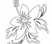 Coloriage Fleur pour décoration