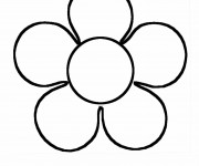 Coloriage et dessins gratuit Fleur simple à imprimer