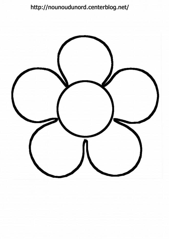 Coloriage Fleur Simple Dessin Gratuit à Imprimer