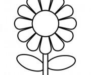 Coloriage Fleur simple à décorer