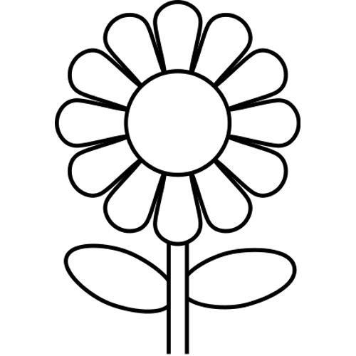 Coloriage Fleur Simple à Décorer Dessin Gratuit à Imprimer