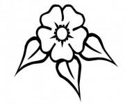 Coloriage Fleur vecteur