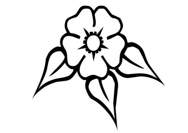 Coloriage et dessins gratuits Fleur vecteur à imprimer