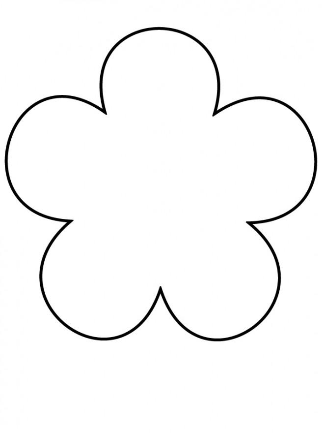 Coloriage fleur vide compl ter dessin gratuit imprimer - Fleur simple dessin ...