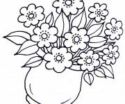 Coloriage Fleurs dans la vase