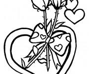Coloriage Fleurs et Amour