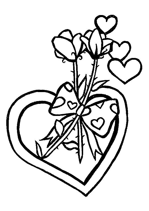Coloriage et dessins gratuits Fleurs et Amour à imprimer