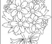 Coloriage Fleurs multicolores
