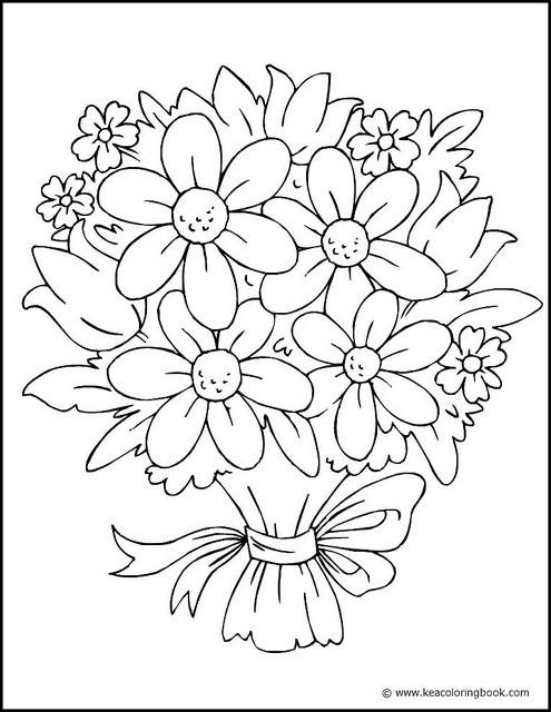 Coloriage et dessins gratuits Fleurs multicolores à imprimer