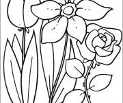 Coloriage et dessins gratuit Fleurs Printemps à imprimer