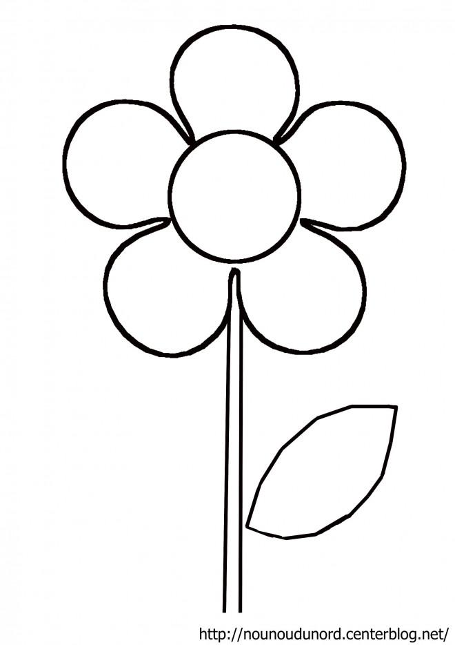 Coloriage mod le de fleur marguerite dessin gratuit imprimer - Model de dessin ...