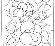 Coloriage Tableau de Fleur