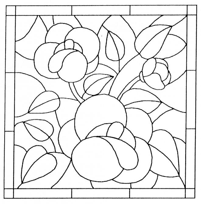 Coloriage et dessins gratuits Tableau de Fleur à imprimer