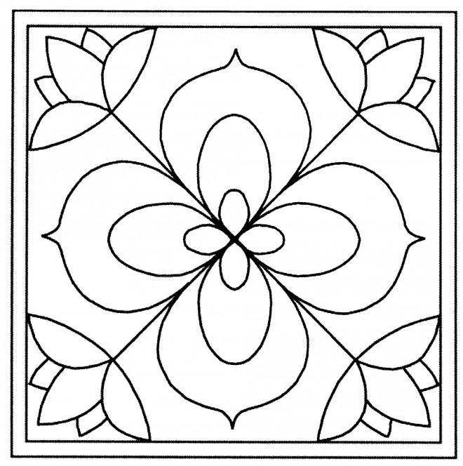 Coloriage Tableau de Fleur vecteur dessin gratuit à imprimer