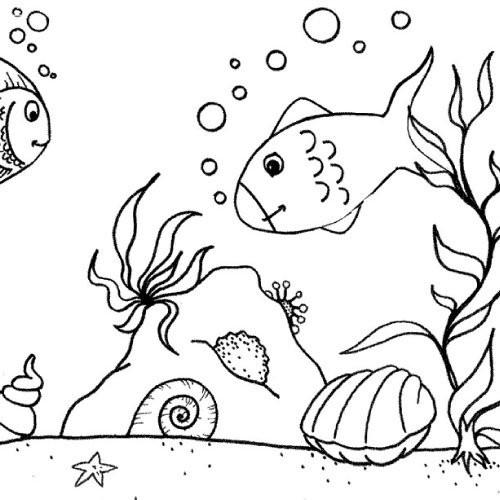 Coloriage et dessins gratuits Créatures de la mer à imprimer