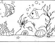 Coloriage dessin  Fond Marin 8
