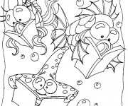 Coloriage dessin  Fond Marin 9