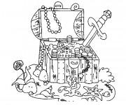 Coloriage et dessins gratuit Fond Marin et le Trésor à imprimer