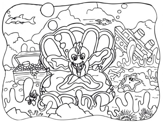 Coloriage et dessins gratuits Fond Marin mandala à imprimer