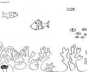 Coloriage et dessins gratuit Fond sous marin à imprimer
