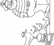 Coloriage et dessins gratuit Le marin en couleur à imprimer