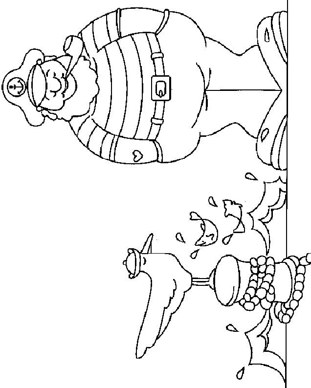 Coloriage et dessins gratuits Le marin en couleur à imprimer